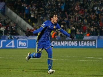 Sardar Azmoun celebra su gol contra el Bayern