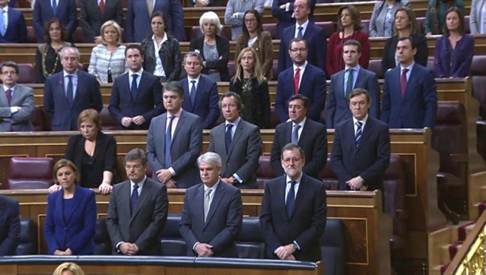 Frame 35.923815 de: El Congreso guarda un minuto de silencio por Rita Barberá con la ausencia de los diputados de Unidos Podemos