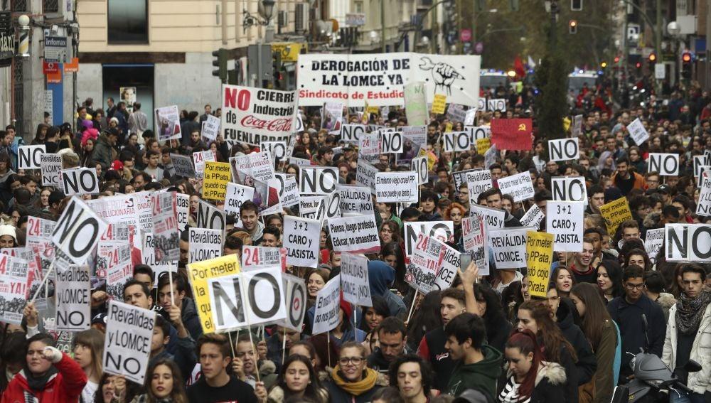 Huelga estudiantil contra la LOMCE