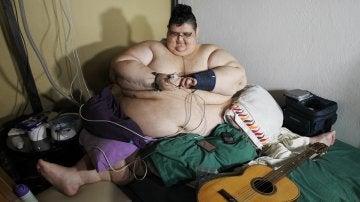 El mexicano Juan Pedro Franco, el hombre más obeso del mundo