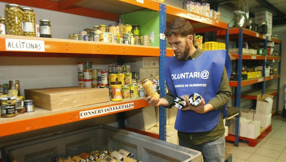 Gonzo en el Banco de Alimentos de Vigo