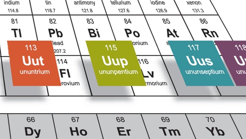 Nuevos elementos de la tabla periódica