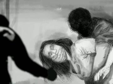 Recreación de la violación múltiple en San Fermín