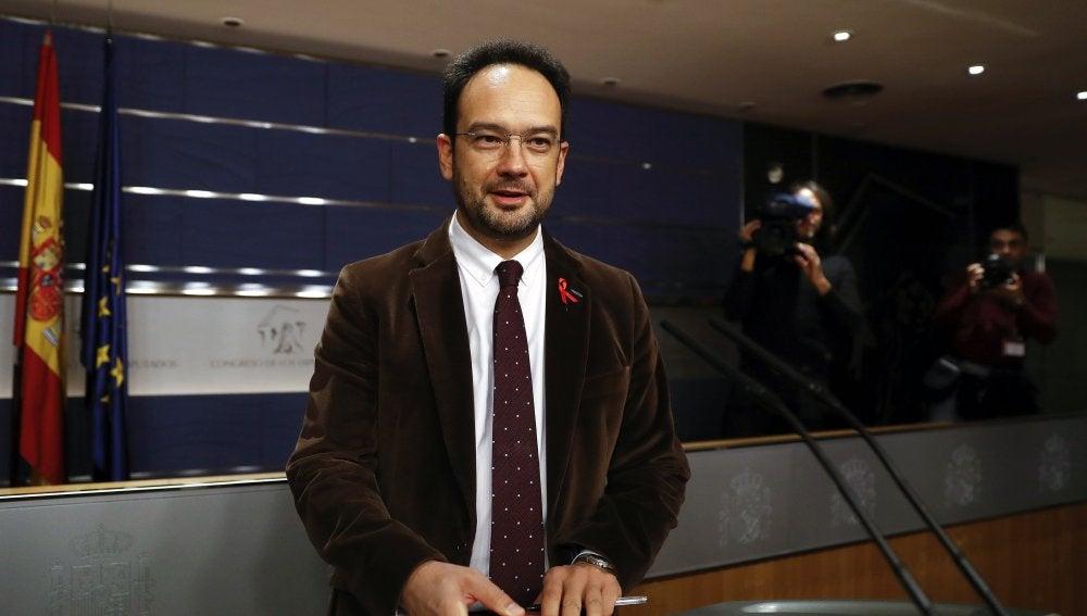 El portavoz del PSOE en el Congreso, Antonio Hernando