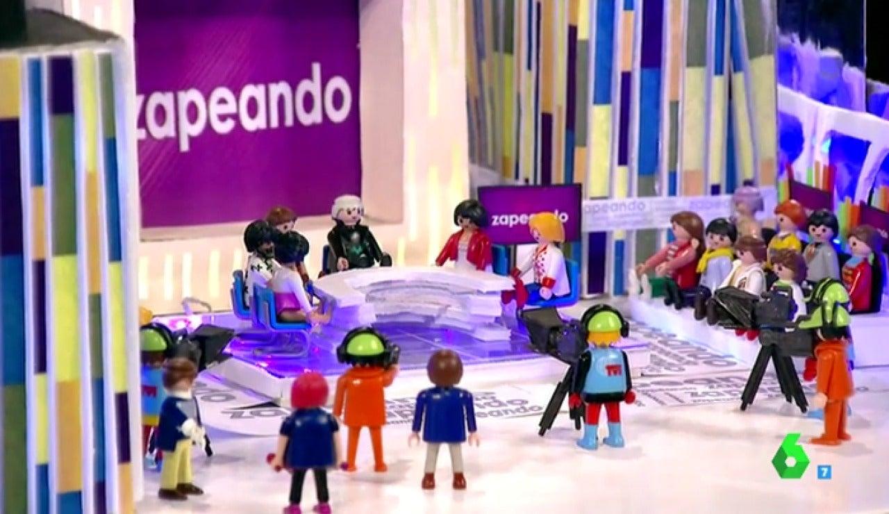 Frame 148.650714 de: El primer regalo navideño para Zapeando:  'La versión playmobil del programa'