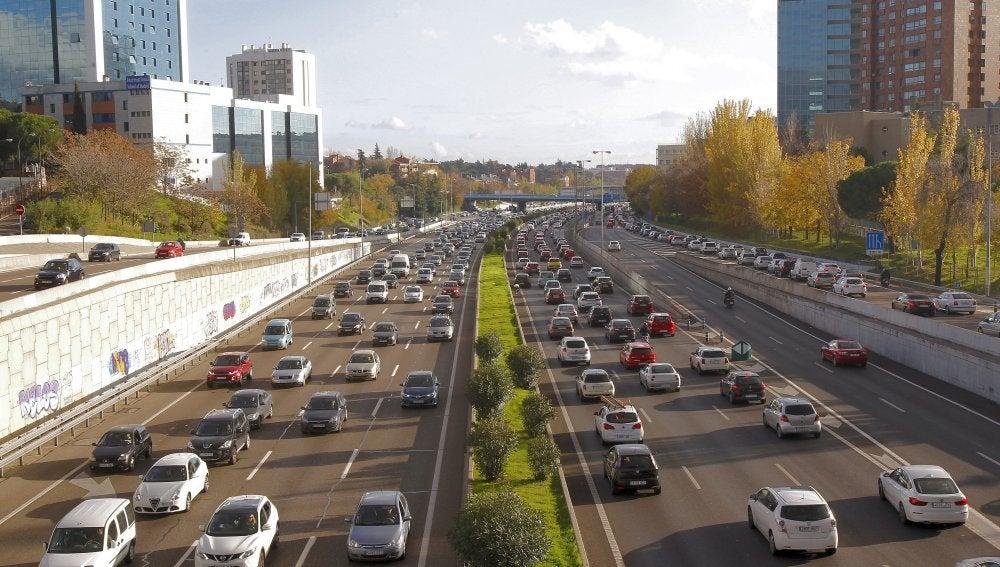 Tráfico en la M-30 de Madrid