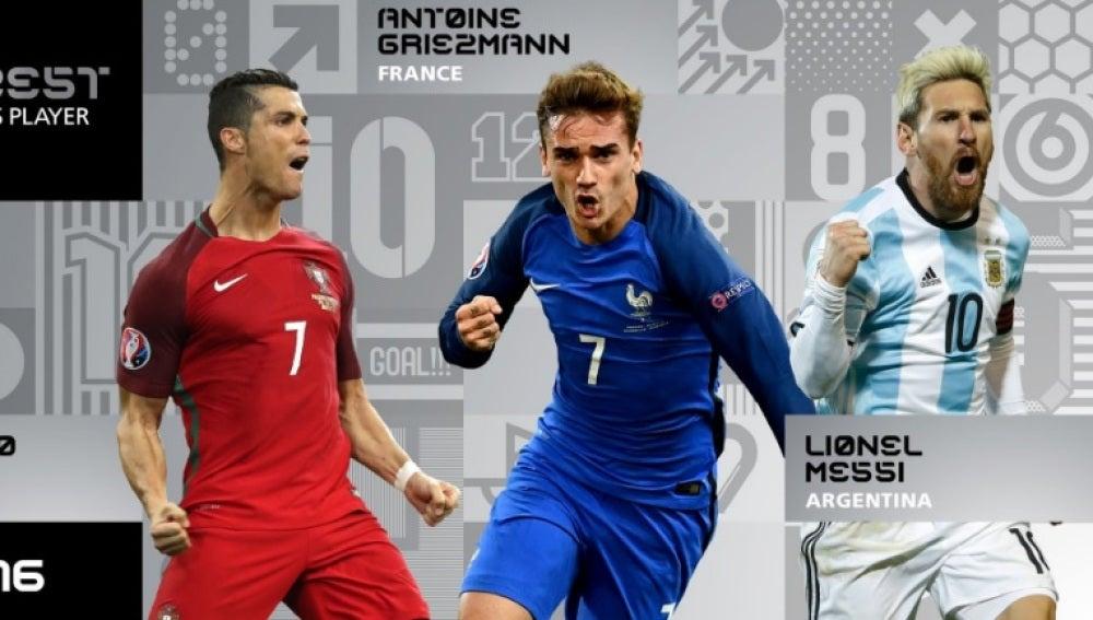 Cristiano, Griezmann y Messi, finalistas de 'The Best'
