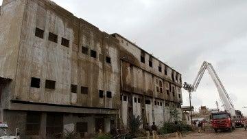 La fábrica de textiles incendiada en Pakistán