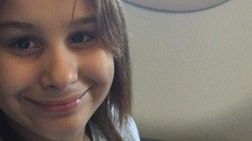 Nadia, durante un vuelo