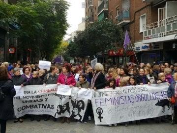 La protesta ciudadana que se ha llevado a cabo en Alcorcón
