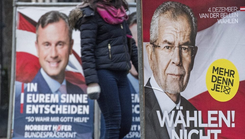Carteles electorales en Austria
