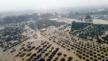 Imagen del temporal en Andalucía
