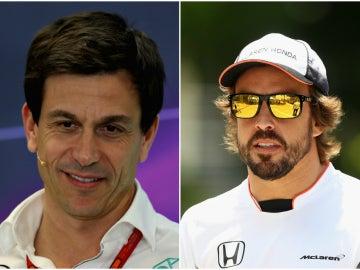 Toto Wolff y Fernando Alonso