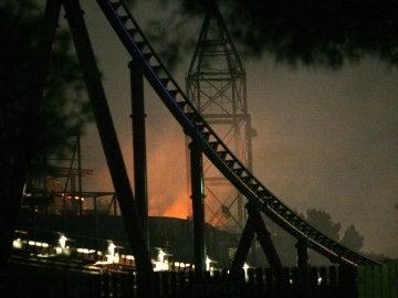 Incendio en Ferrari Land
