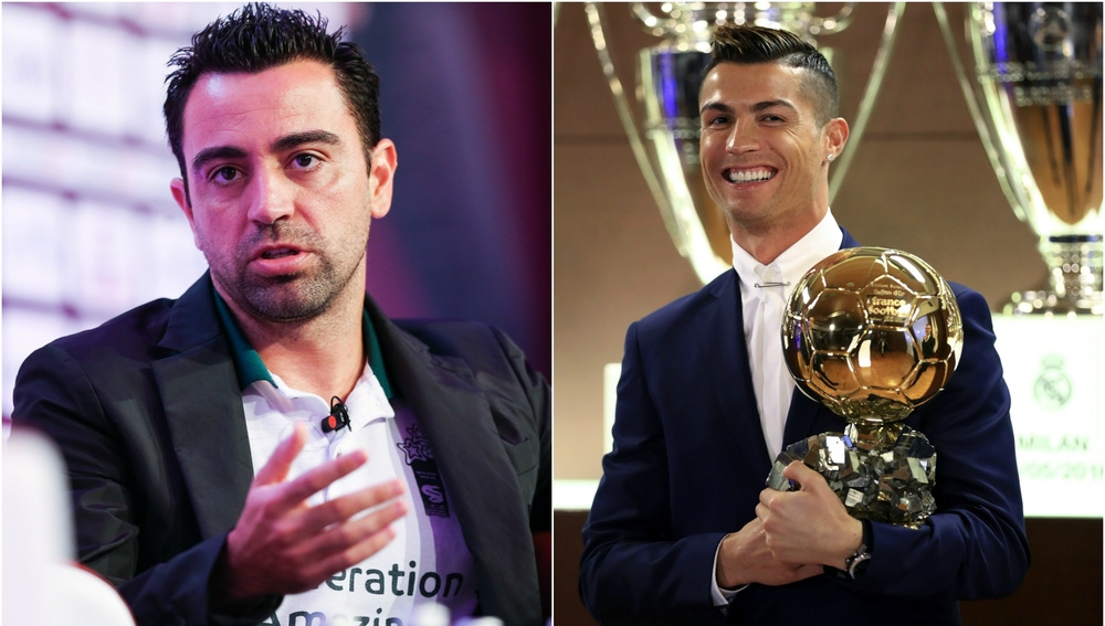 Xavi y Cristiano Ronaldo