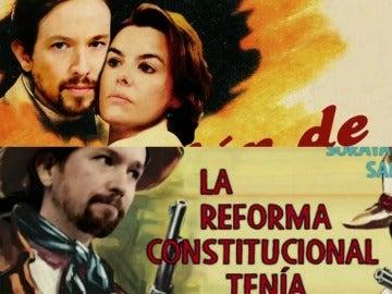 Pablo Iglesias y Soraya Sáenz de Santamaría