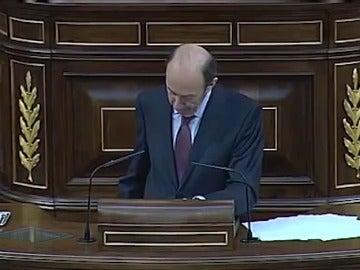 Frame 0.0 de: Alfredo Pérez Rubalcaba en el debate sobre el estado de la nación de 2013.