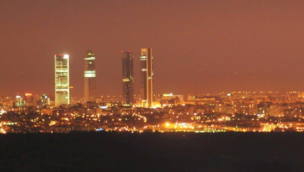 Contaminación lumínica en Madrid