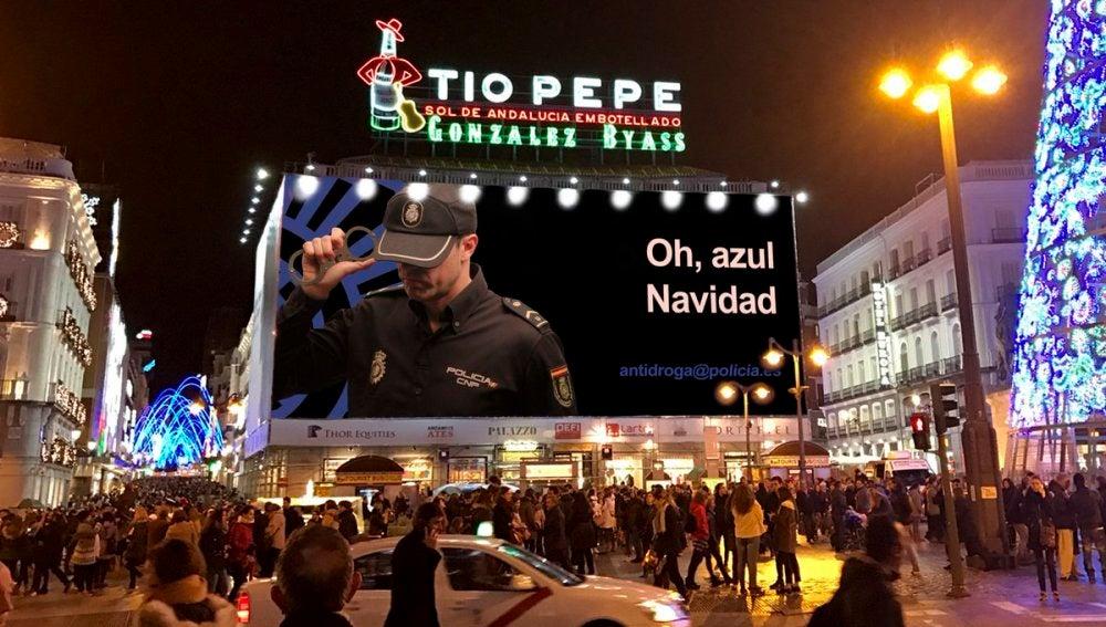 Cartel de 'Narcos' adaptado por la Policía