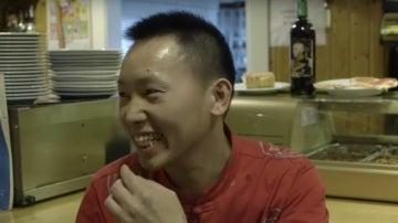 Cheng Xiangwei, el 'chino facha', durante una entrevista a 'El Confidencial'