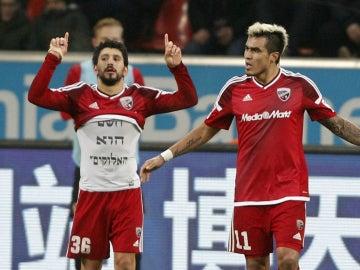 El Ingolstadt celebra un gol
