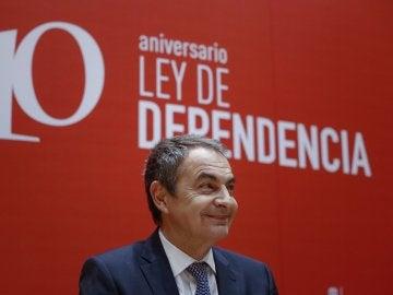 José Luis Rodríguez Zapatero durante el acto de celebración del X aniversario de la Ley de Dependencia