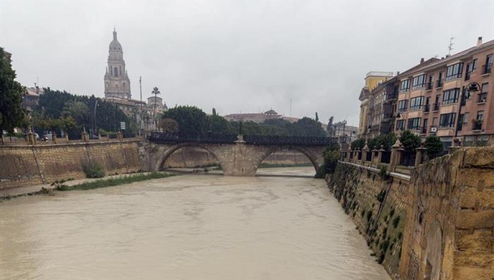 El rio Segura a su paso por Murcia