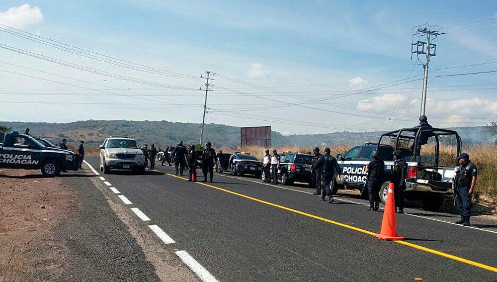 La Policía de Michoacán acordona la zona donde fueron halladas las cabezas