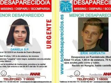 Los dos menores desaparecidos