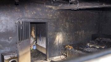 Incendio en el garaje en el que vivían los temporeros inmigrantes