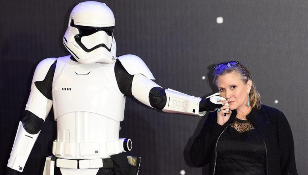 La actriz Carrie Fisher