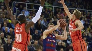 Rice, se exhibe en el Palau Blaugrana ante el Valencia Basket
