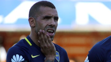 Carlos Tévez, en un partido con Boca Juniors