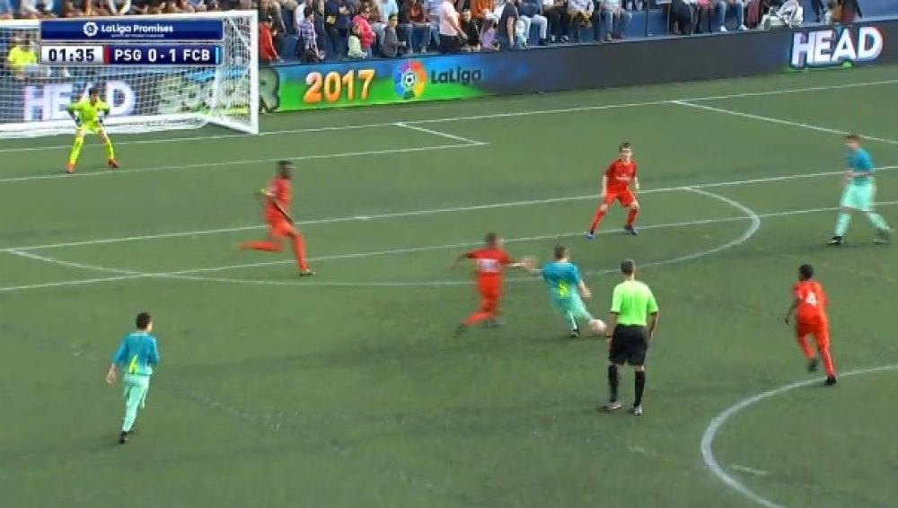 Aleix Garrido la clava en escuadra ante el PSG