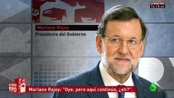 """Frame 18.807712 de: Rajoy, de aniversario de boda en el Día de los Inocentes: """"Oye, de momento aquí sigo"""""""