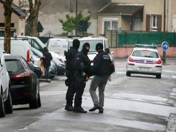 Imagen de archivo de agentes de Policía en Francia