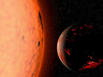 Recreación de una estrella gigante roja