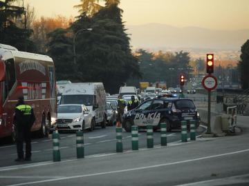 Controles en los accesos a Madrid