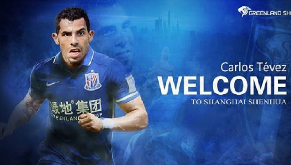 Tévez, nuevo fichaje del Shanghai Shenhua