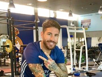 Sergio Ramos durante un entrenamiento