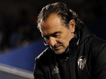Cesare Prandelli,durante un partido con el Valencia CF