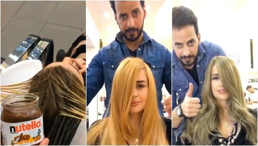El revolucionario método para teñir el pelo de Abed Allahitani
