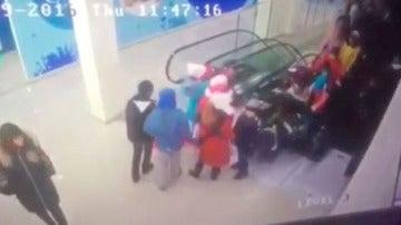Accidente en unas escaleras mecánicas de Rusia