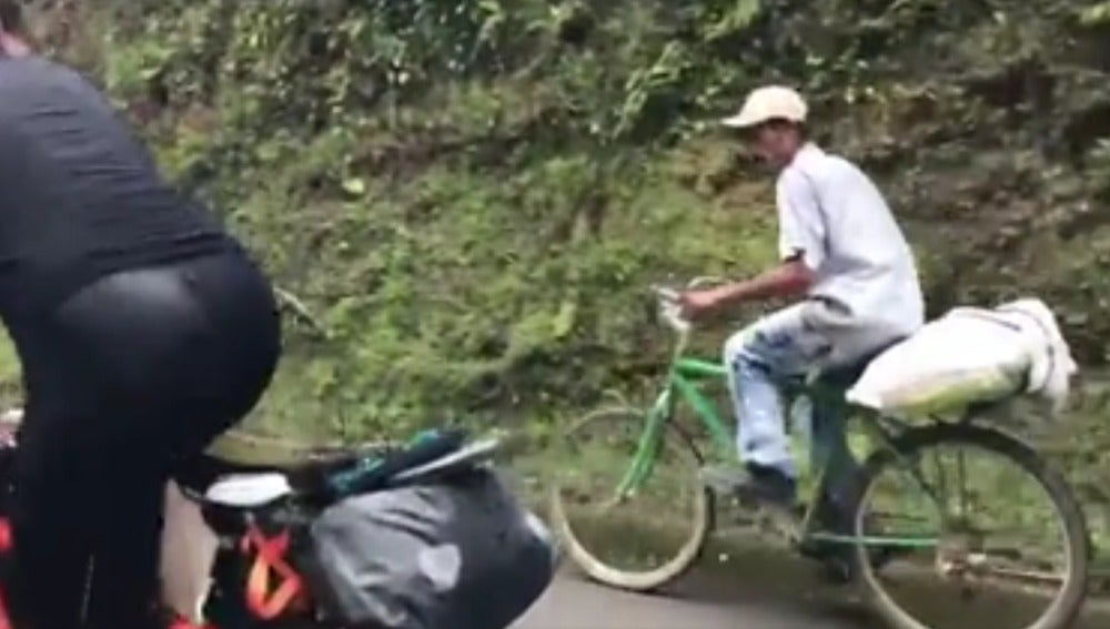 Colombiano en bici