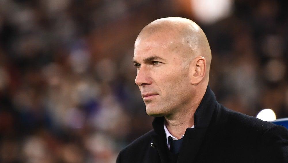 Zidane en un partido