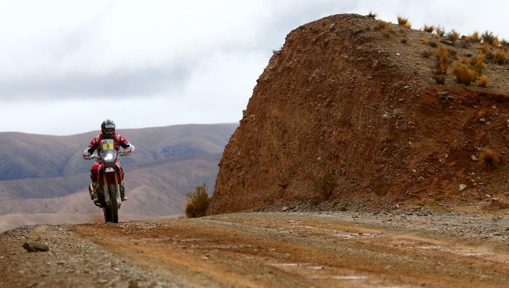 Ricky Brabec, en una etapa del Dakar