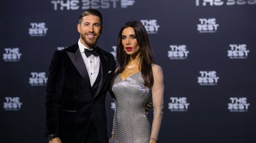 Sergio Ramos con Pilar Rubio en los premios 'The Best'