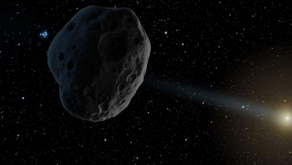 Recreación de un asteroide