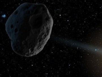 Recreación de un asteroide