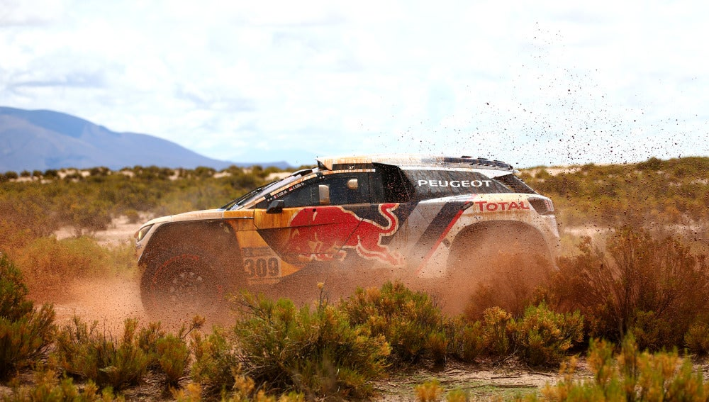 Sebastien Loeb durante una etapa del Rally Dakar